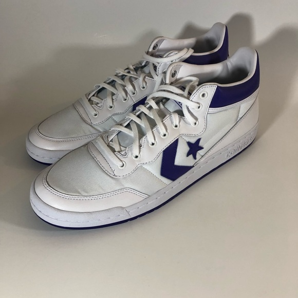 Converse Fast Break Mid 83 White Candy Grape Shoes NWT